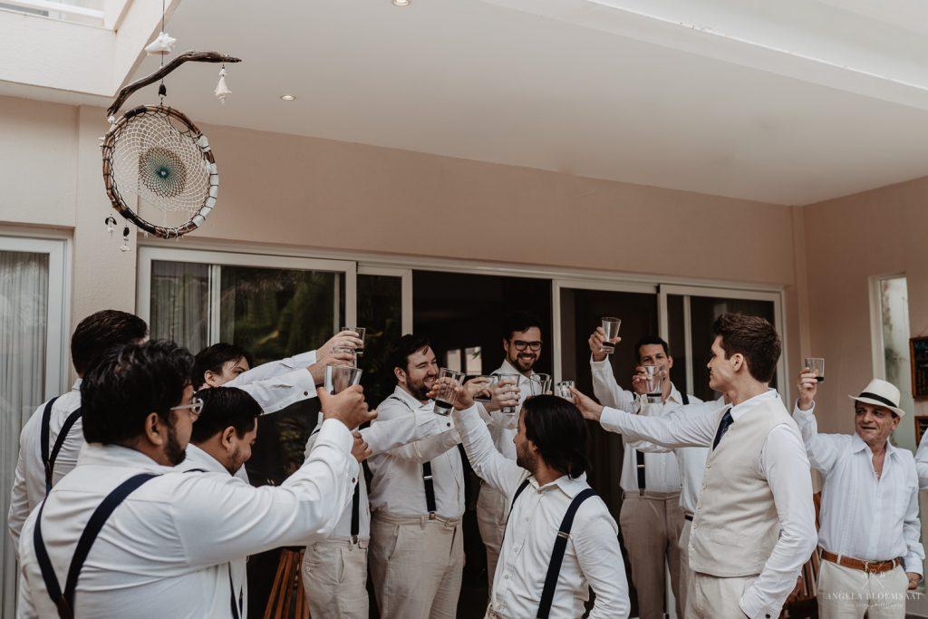 trouwfotograaf trouwen op het strand mexico tulum - wedding photographer angela bloemsaat-1