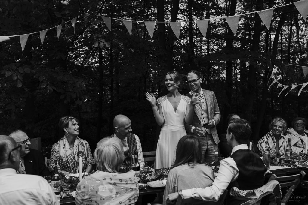 Forest Wedding photographer trouwen bos bruidsfotograaf trouwfotograaf Netherlands nederland Angela Bloemsaat
