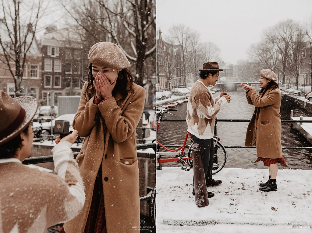 engagement proposal amsterdam holland couple shoot photographer